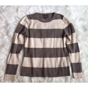100% 2-ply Cashmere Striped Sweater